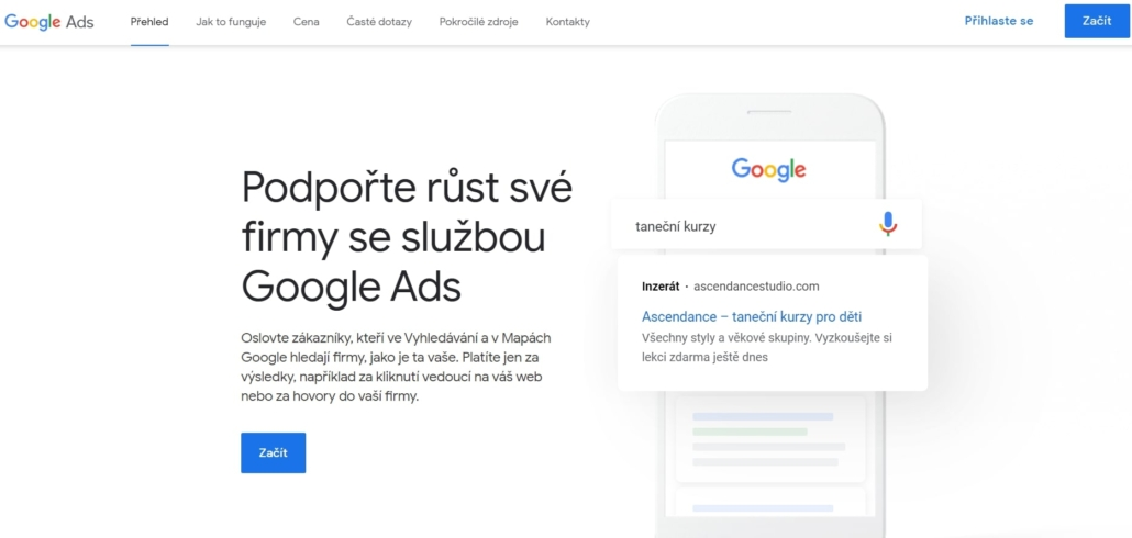 Podpořte růst své firmy se službou Google Ads