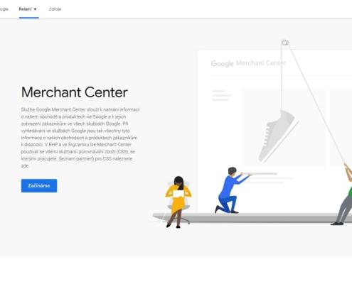 Google Merchant Center - Úvodní strana