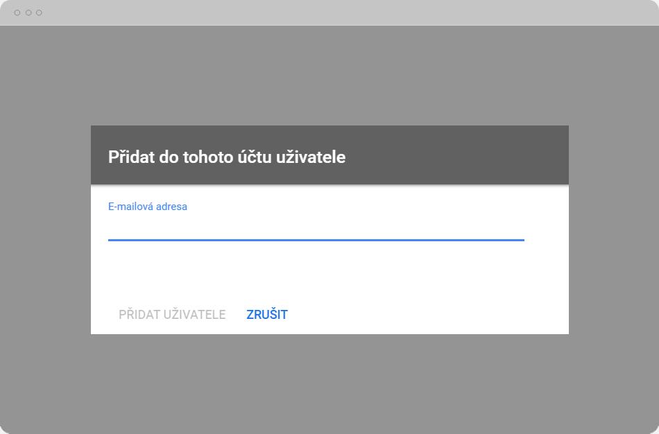Google Merchant Center - Přidat uživatele