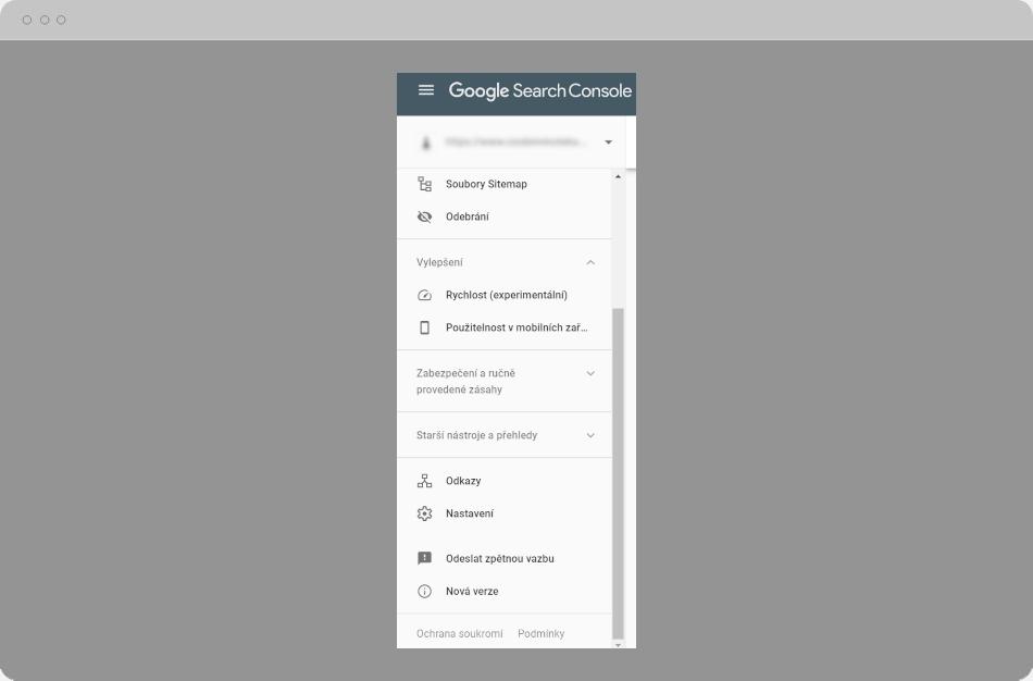 Google Search Console - Nastavení