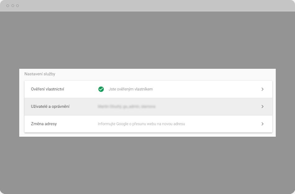 Google Search Console - Nastavení služby