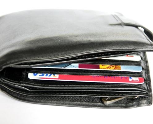 Peněženka - platební karty